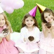 Children's Birthday Party outdoors — Stock Photo #5973231