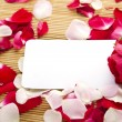 Card and roses — Foto de Stock