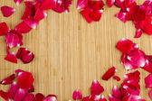 Marco de pétalo de rosa — Foto de Stock