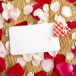 Stock Photo: Card and roses