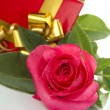 Red Rose, gift box — Stock Photo #6208929