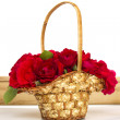 Basket of roses — Stock Photo #6209361