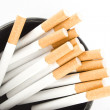 Cigarettes in an ashtray — Stock Photo