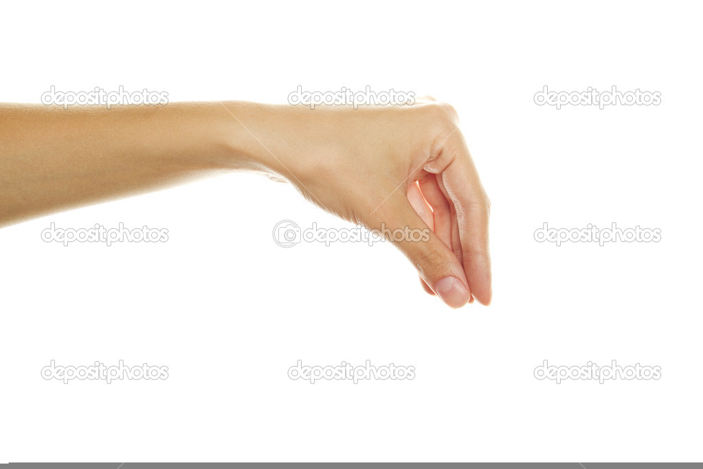 Placing hand sign isolated on white background — Stock Photo #6440680