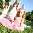 Children's Birthday Party outdoors — Stock Photo #6475152