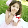 Stok fotoğraf: Birthday Party outdoors