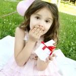 partij van de kindverjaardag buitenshuis — Stockfoto