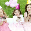 Children's Birthday Party outdoors — Stock Photo #6475279