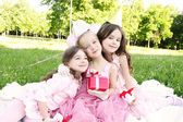 Children's Birthday Party outdoors — Stockfoto