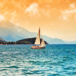 Surreal image of Ohrid Lake — Stockfoto