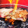 Meat on a grill - Stock Photo