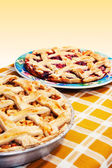 Apple & cherry pies — Stock Photo