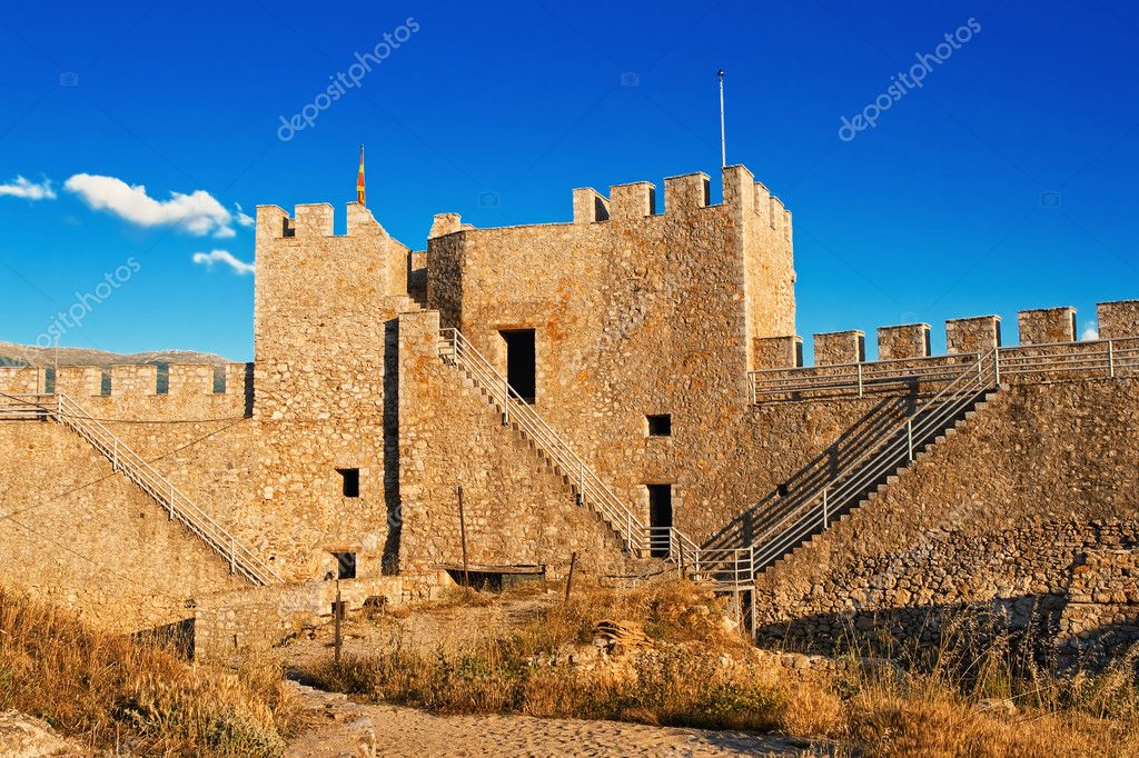 The fortress of emperor Samuil in Ohrid, Macedonia at sunset   Stock Photo #5771788