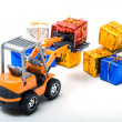 Model toy trucks shifted gifts — Stock Photo #5456262