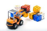 Modell Spielzeug Lkw verschoben Geschenke — Stockfoto