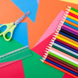 Arts and Crafts Supplies — Stock Photo