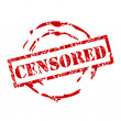 Censored stamp — Stockvectorbeeld