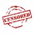 Censored stamp — Image vectorielle