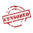Censored stamp — Stock Vector