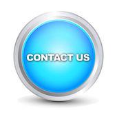 Contact us blue button — Stock Vector