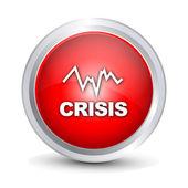 Crisis Histogram glossy icon — Stock Vector