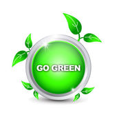 """Go Green"" button — Stock Vector"