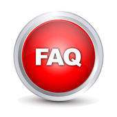 """FAQ"" glossy icon — Stock Vector"