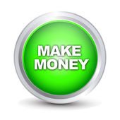 Make money glossy button — Stock Vector
