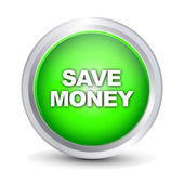 Save money glossy icon — Stock Vector