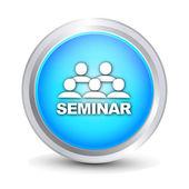 """""""Seminar"""" glossy button — Stock Vector"""