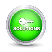 """Solutions"" button — Stock Vector"