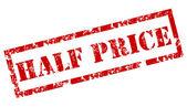 """Half Price"" Rubber Stamp — Stock Vector"