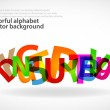 Alphabet abstract background — Stock Vector