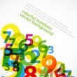 Colorful numbers background - Stock Vector