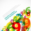 Numbers abstract poster — Stock Vector