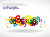 Abstract colorful numbers background — Stock Vector