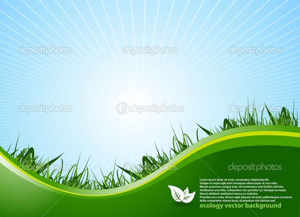 Ecology Background with Logo.vector. — Stock Vector #5865620