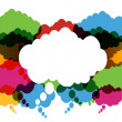 Colorful Thought And Speech Bubbles — Stock Vector