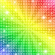 Stock Vector: Rainbow sunburst background with stars