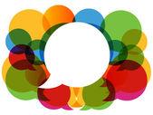 Colorful dialog bubbles vector. — Stock Vector