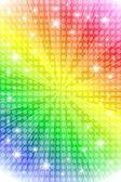 Rainbow sunburst background with stars — Stock Vector