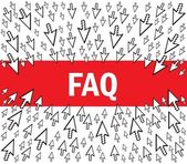 FAQ concept — Stock Vector