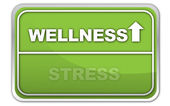 Wellness stress — Stock Vector