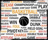 Etiquetas de baloncesto — Vector de stock