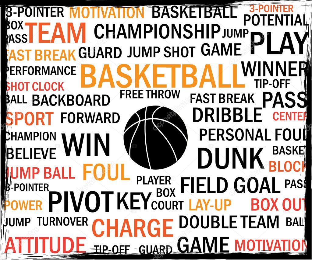Basketball tags vector background — Stock Vector #6170852