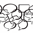 Royalty-Free Stock Vector Image: Speech And Thought Bubbles design