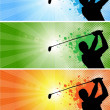 Golf banners_1 — Stock Vector