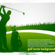 Golf vector background_1 — Stock Vector #6414566