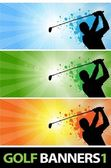 Golf banners_1 — Vettoriale Stock