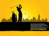 Golf at city — Stock Vector